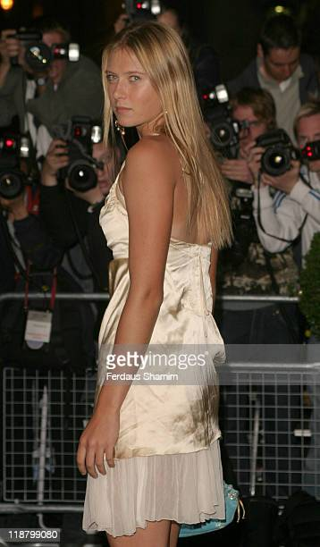 Maria Sharapova during 2004 Wimbledon Champions Dinner Arrivals at The Savoy London in London England Great Britain