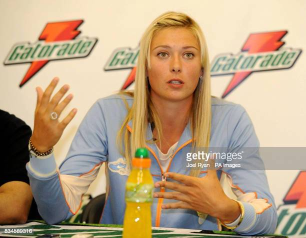 Maria Sharapova during a photocall to promote new energy drink Gatorade at Kings College School in Wimbledon ahead of the 2008 Tennis championships...