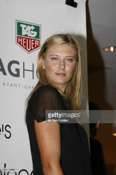 Maria Sharapova during Maria Sharapova Launches New Tag Heuer Watch August 22 2006 at Bloomingdales in New York City New York United States
