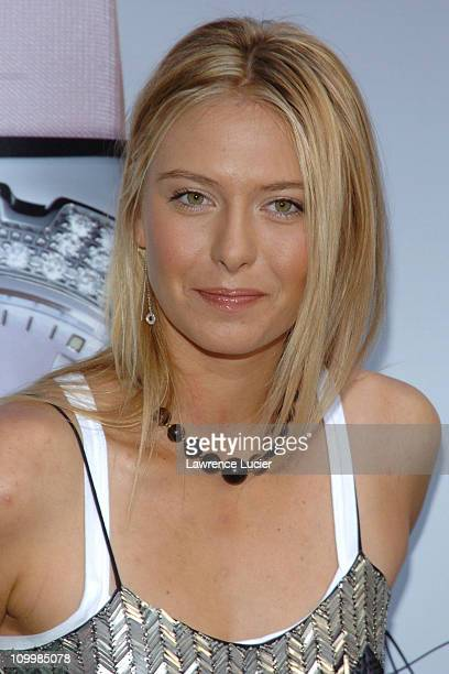 Maria Sharapova during Maria Sharapova No 1 Ranked Tennis Player Launches Her New Tag Heuer Watch at Fortunoff in New York City New York United States