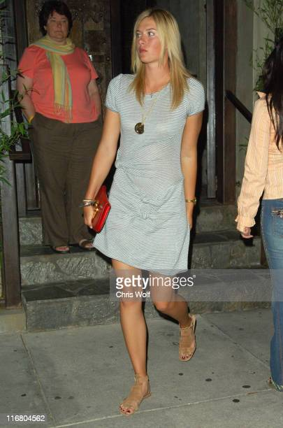Maria Sharapova during Maria Sharapova Sighting at Koi May 8 2007 at Koi in West Hollywood California United States