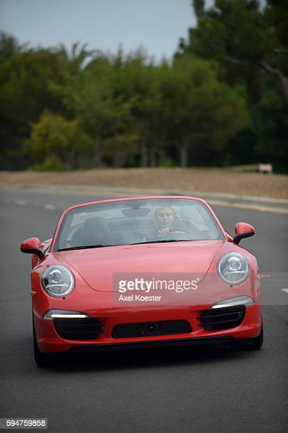 Maria Sharapova is a new brand ambassador for Porsche and poses with a 2013 model 911 Carrera 4S in Palos Verdes and in Manhattan Beach PHOTO BY ©...