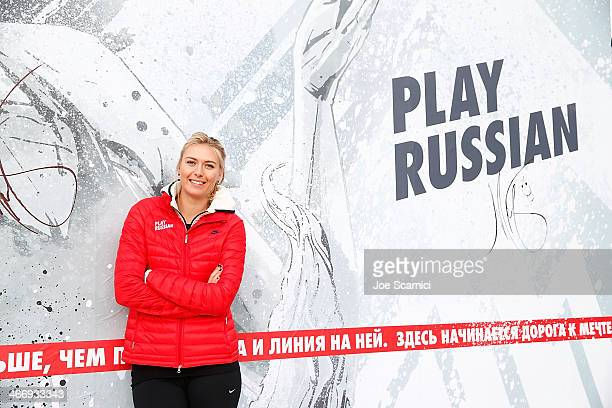 Maria Sharapova joins Nike in reopening her newly refurbished hometown tennis court at Riviera Park Egorova on February 5 2014 in Sochi Russia
