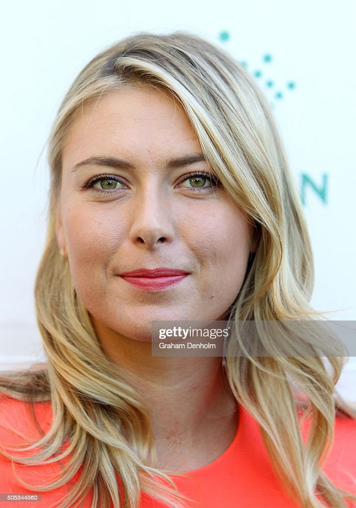 Maria Sharapova of Russia arrives at the 2016 Australian Open party at Crown Entertainment Complex on January 17, 2016 in Melbourne, Australia.