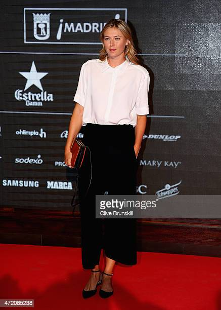 Maria Sharapova of Russia arrives at the player party during day two of the Mutua Madrid Open tennis tournament at the Caja Magica on May 3 2015 in...