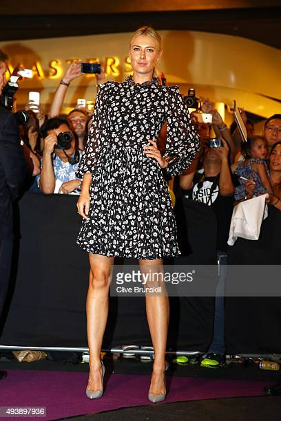 Maria Sharapova of Russia attends the Official Draw Ceremony prior to the BNP Paribas WTA Finals at The Shoppes at Marina Bay Sands on October 23...