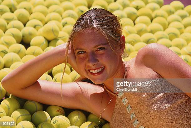 Maria Sharapova of Russia poses during a photoshoot feature held in Indian Wells California on March 3 2002
