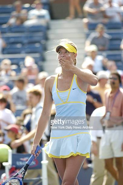 Maria Sharapova of Russia throws kisses to the crowd after defeating Dally Randriantefy of Madagascar during second round play in the US Open at the...