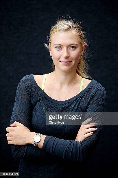 Maria Sharapova poses ahead of the 2015 Brisbane International at Queensland Tennis Centre on January 3 2015 in Brisbane Australia