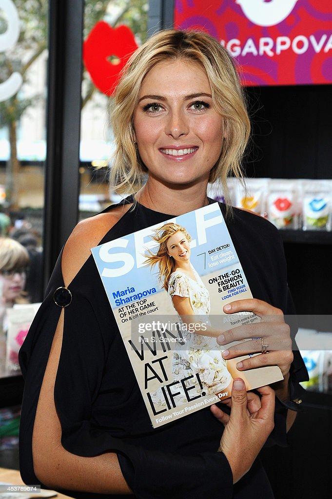Maria Sharapova poses at a QA about being a SELF Made woman hosted by SELF Magazine September cover star Maria Sharapova and EditorinChief Joyce...
