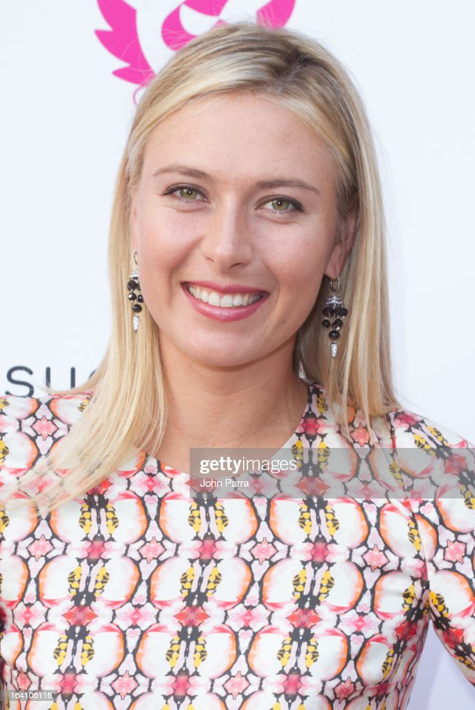 <a gi-track='captionPersonalityLinkClicked' href=/galleries/search?phrase=Maria+Sharapova&family=editorial&specificpeople=157600 ng-click='$event.stopPropagation()'>Maria Sharapova</a> poses during the launch of her candy collection Sugarpova in Miami at IT'SUGAR at Sunset Place on March 19, 2013 in Miami, Florida.