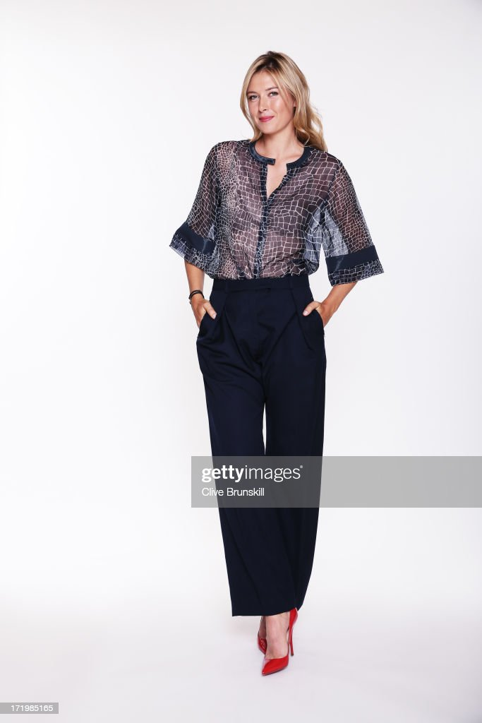 This image has been retouched) Maria Sharapova poses for an exclusive photoshoot during the WTA 40 Love Celebration on Middle Sunday of the Wimbledon Lawn Tennis Championships at the All England Lawn Tennis and Croquet Club at Wimbledon on June 30, 2013 in London, England.
