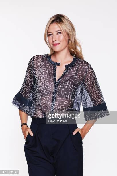 Maria Sharapova poses for an exclusive photoshoot during the WTA 40 Love Celebration on Middle Sunday of the Wimbledon Lawn Tennis Championships at...