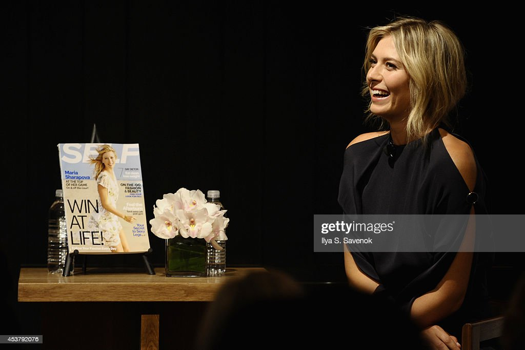 Maria Sharapova speaks at a QA about being a SELF Made woman hosted by SELF Magazine September cover star Maria Sharapova and EditorinChief Joyce...