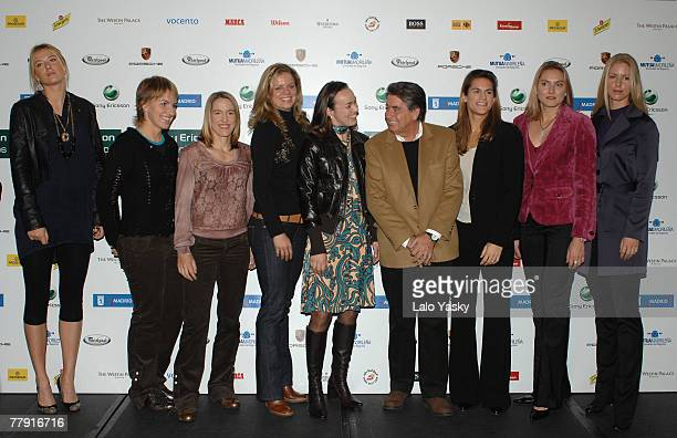 Maria Sharapova Svetlana Kuznetsova Justine HeninHardenne Kim Clijsters Martina Hingis former wimbledon champion Manolo Santana Amelie Mauresmo Nadia...