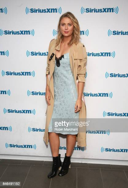 Maria Sharapova visits at SiriusXM Studios on September 13 2017 in New York City