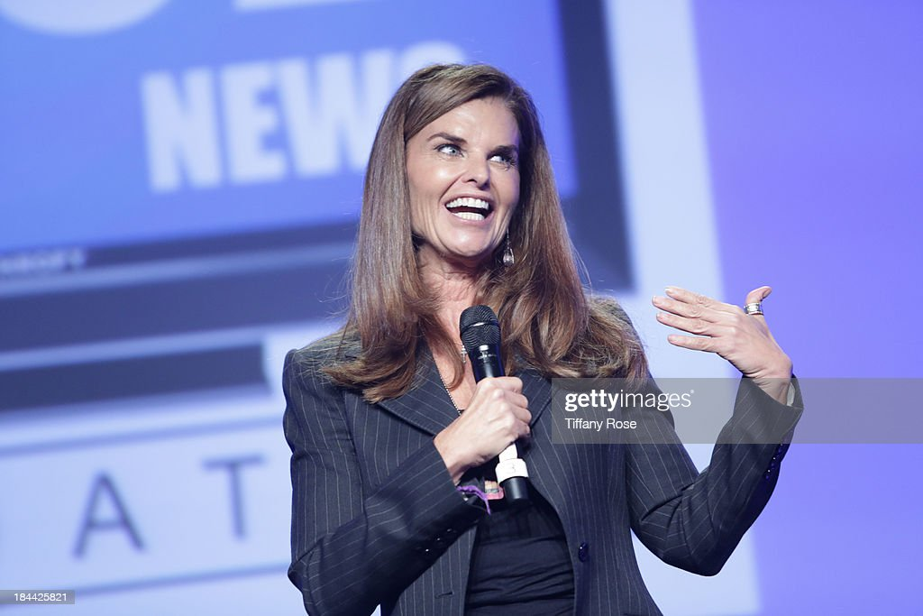 Maria Shriver accepts The Good News Fund Lifetime Achievement award at the Good News Foundation's Feel Good event of the year at The Beverly Hilton Hotel on October 13, 2013 in Beverly Hills, California.