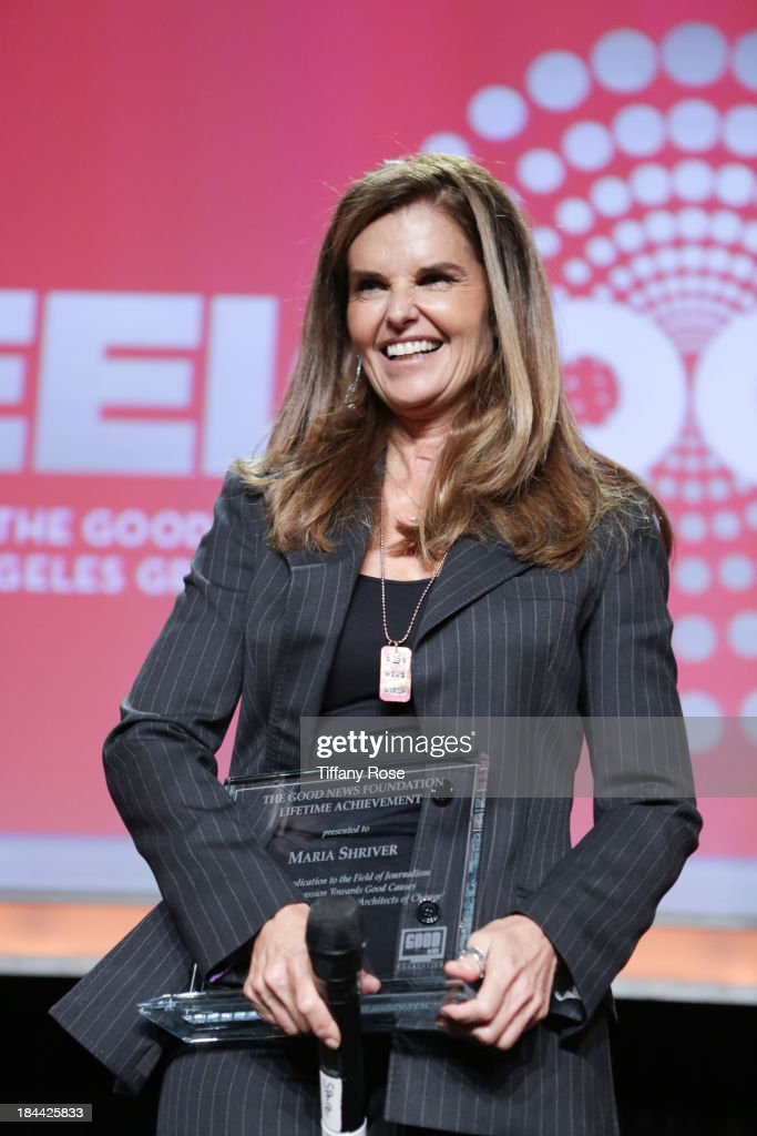 Maria Shriver accepts The Good News Fund Lifetime Achievement award at the Good News Foundation's Feel Good event of the year at The Beverly Hilton...