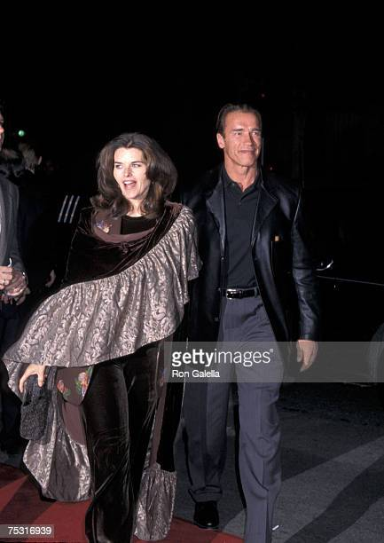 Maria Shriver and Arnold Schwarzenegger arrive at the premiere of 'Titanic' at Mann's Chinese Theatre Hollywood CA 12/14/97