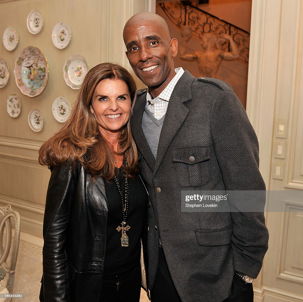 <a gi-track='captionPersonalityLinkClicked' href=/galleries/search?phrase=Maria+Shriver&family=editorial&specificpeople=179436 ng-click='$event.stopPropagation()'>Maria Shriver</a> (L) and Drederick Irving attend a reception hosted by Ted and Lynn Leonsis celebrating the 2013 Audi Best Buddies Challenge: Washington, DC on October 18, 2013 in Potomac, Maryland.