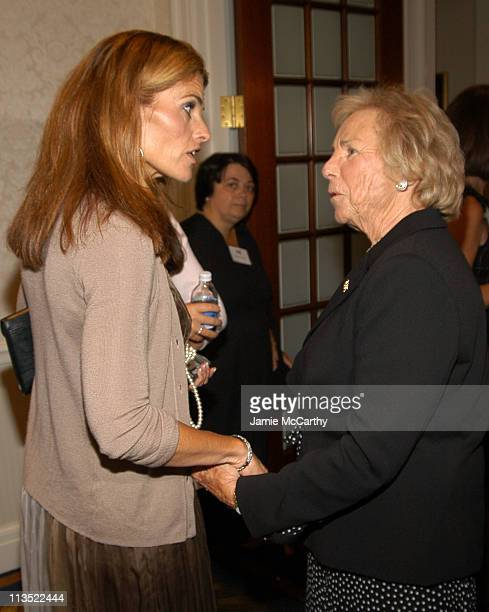 Maria Shriver and Ethel Kennedy during The Robert F Kennedy Memorial Benefit Reception at The Boston College Club in Boston Massachusetts United...