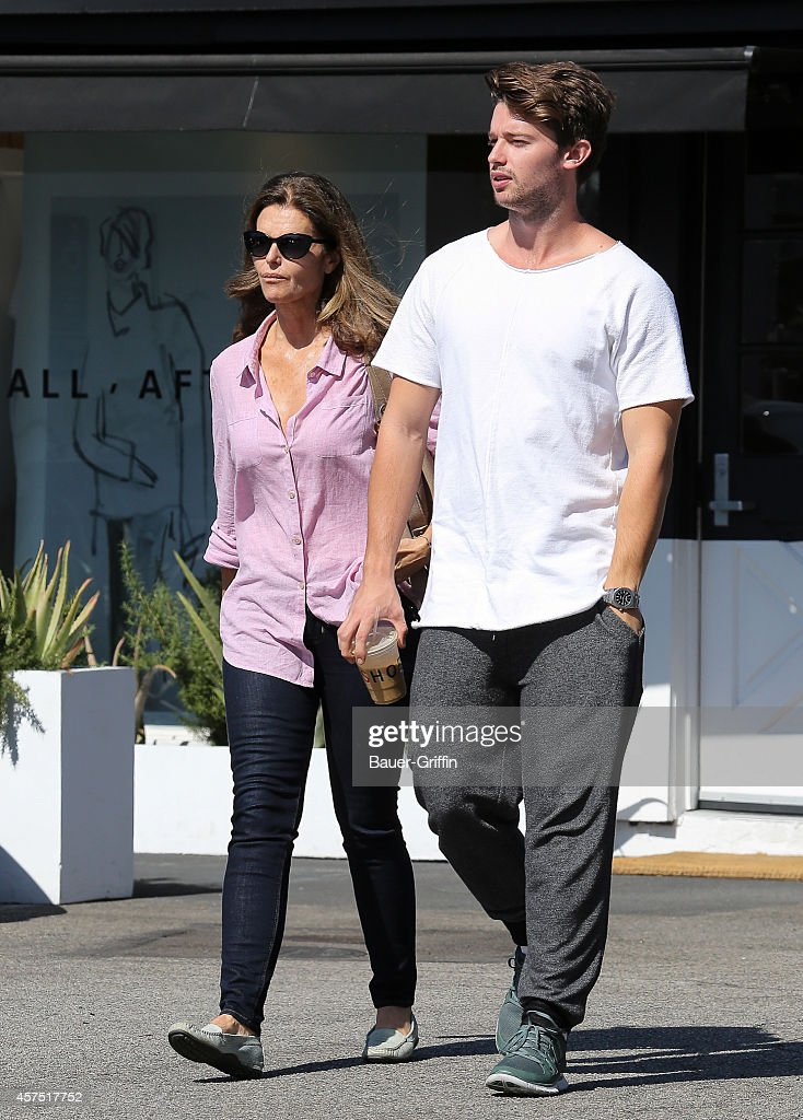 Maria Shriver and Patrick Schwarzenegger are seen on October 19 2014 in Los Angeles California