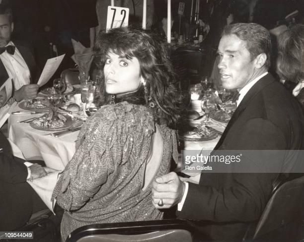 Maria Shriver Arnold Schwarzenegger during Simon Wiesenthal Center Annual Humanitarian Awards Dinner Honoring Anatoly Scharansky at Bonaventure Hotel...