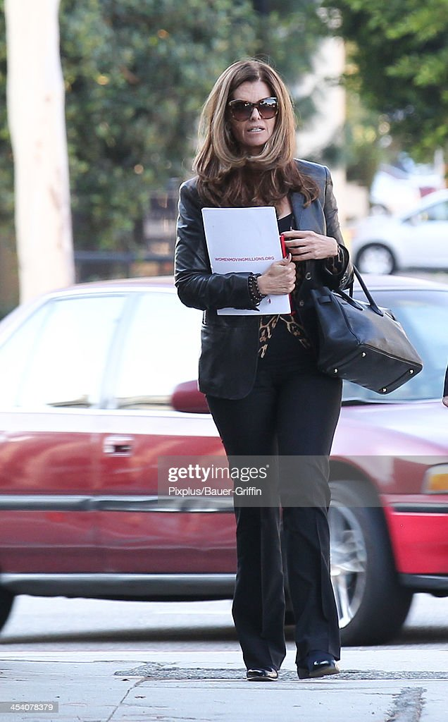 Maria Shriver is seen on December 06 2013 in Los Angeles California