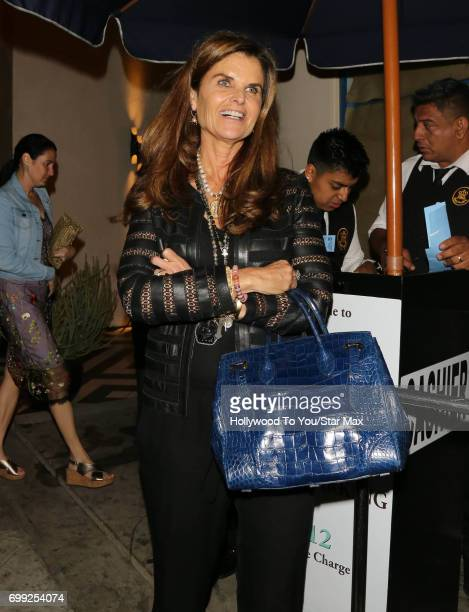 Maria Shriver is seen on June 20 2017 in Los Angeles CA