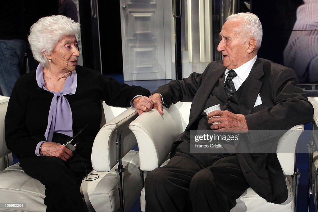 Maria Sole Agnelli (L) and her husband (R) attend 'Porta A Porta' Italian TV Show on January 24, 2013 in Rome, Italy. Today President of Italian Republic Giorgio Napolitano remembered after 10 years the death of Gianni Agnelli - President and principal shareholder of Fiat Group at the Cathedral of Torino.