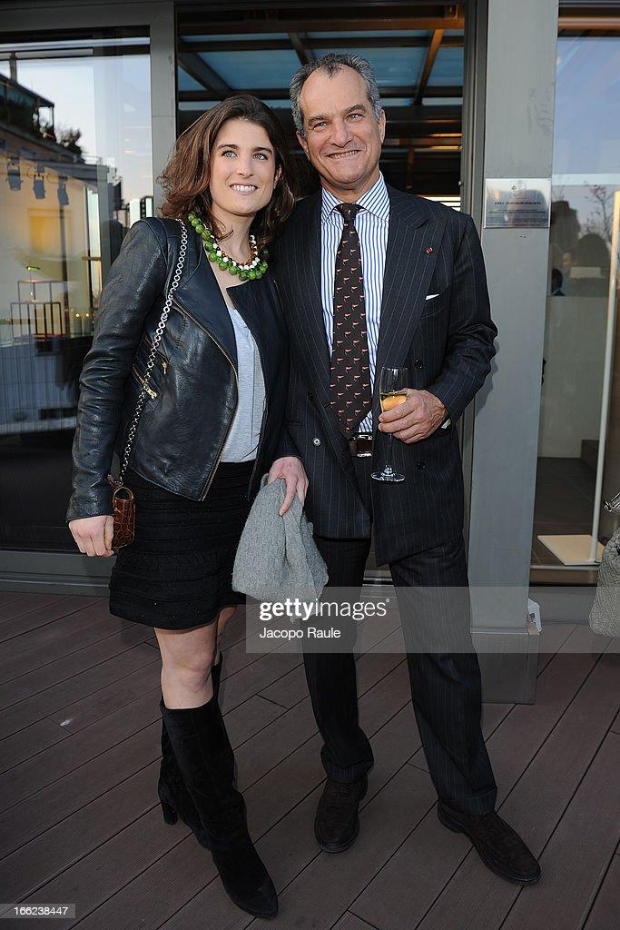 Maria Sole Ferragamo and Leonardo Ferragamo attend Ron Gilad for Molteni&C and Salvatore Ferragamo on April 10, 2013 in Milan, Italy.