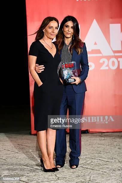 Maria Sole Tognazzi and Sabrina Ferilli attend the Ciak D'Oro 2016 awards at Cinecitta on June 8 2016 in Rome Italy