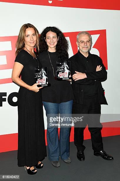 Maria Sole Tognazzi Costanza Quatriglio and Daniele Luchetti attend Ciak For Women 2016 on October 16 2016 in Rome Italy