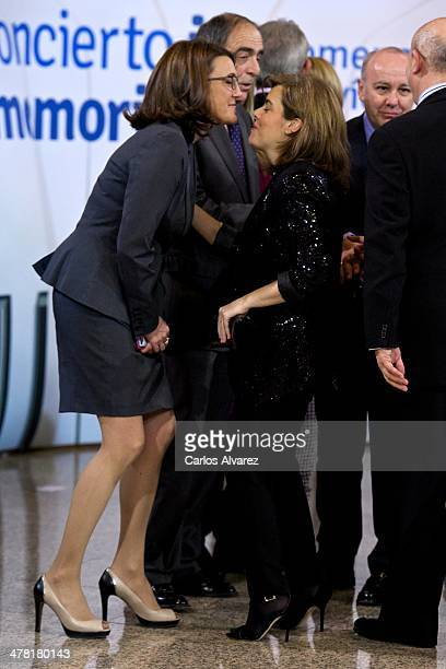 Maria Soraya Rodriguez and Soraya Saenz de Santamaria attend the 'In Memoriam' tribute concert at the Auditorio Nacional on March 12 2014 in Madrid...