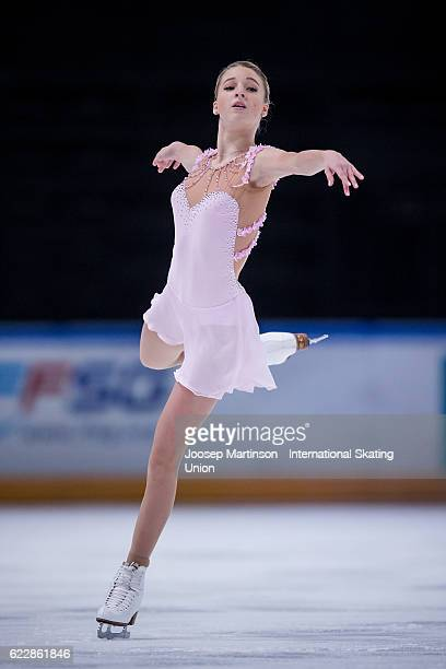 Maria Sotskova of Russia competes during Ladies Free Skating on day two of the Trophee de France ISU Grand Prix of Figure Skating at Accorhotels...