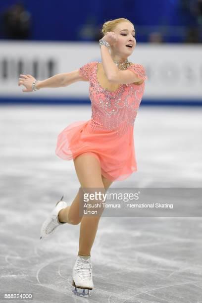Maria Sotskova of Russia competes in the Ladies short progam during the ISU Junior Senior Grand Prix of Figure Skating Final at Nippon Gaishi Hall on...