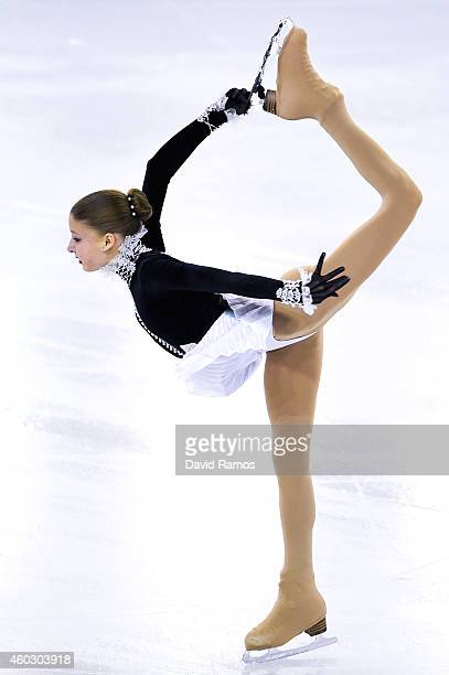 Maria Sotskova of Russia performs during the Junior Ladies Short Program Final during day one of the ISU Grand Prix of Figure Skating Final 2014/2015...