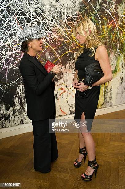 Maria Taittinger and Fru Tholstrup attend the private view of Jose Parla Broken Language at Haunch of Venison on February 7 2013 in London England