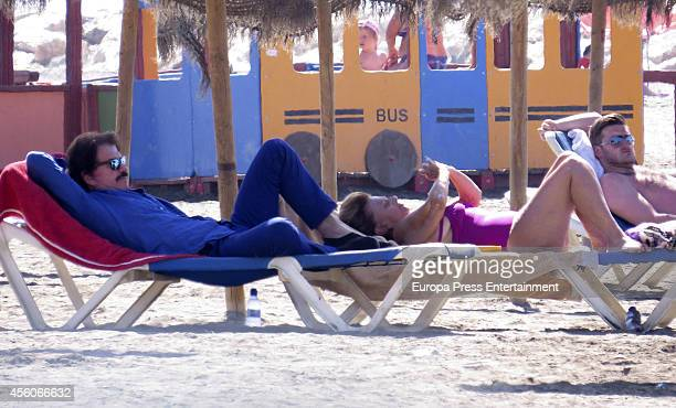 Maria Teresa Campos and Bigote Arrocet are seen on September 09 2014 in Marbella Spain