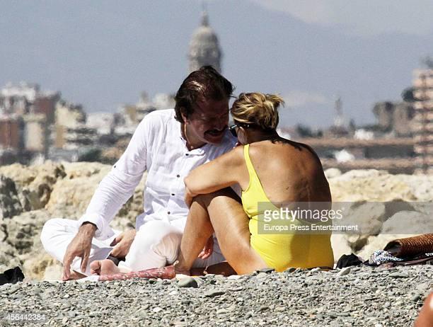 Maria Teresa Campos and Bigote Arrocet are seen on September 12 2014 in Malaga Spain