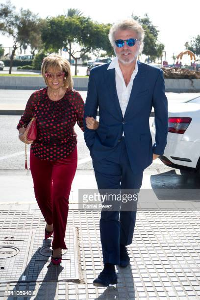 Maria Teresa Campos and Bigote Arrocet attend the appointment of Dani Rovira And Maria Teresa Campos Favorite And Adopted Sons of Malaga on September...