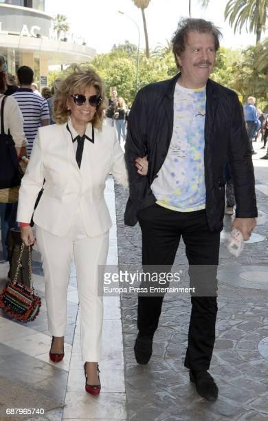 Maria Teresa Campos and Edmundo Arrocet aka Bigote are seen on April 9 2017 in Malaga Spain
