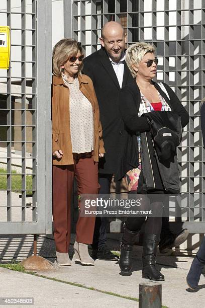 Maria Teresa Campos and her daughter Terelu Campos are seen on November 12 2013 in Madrid Spain
