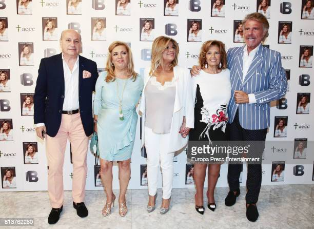 Maria Teresa Campos Bigote Arrocet Carmen Borrego and Jose Carlos Bernal attend the presentation of the autobiography book 'Frente Al Espejo' by...