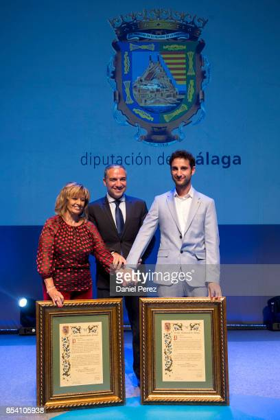 Maria Teresa Campos Elias Bendodo and Dani Rovira attend the appointment of Dani Rovira and Maria Teresa Campos Favorite and Adopted Sons of Malaga...