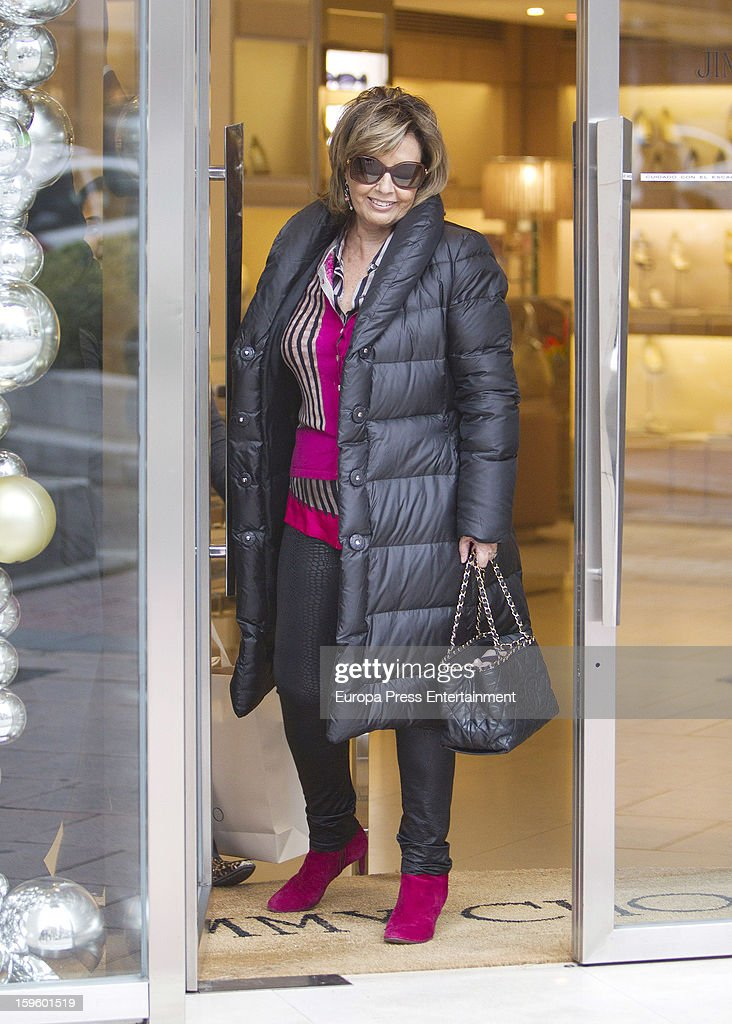 Maria Teresa Campos is seen shopping on January 16, 2013 in Madrid, Spain.