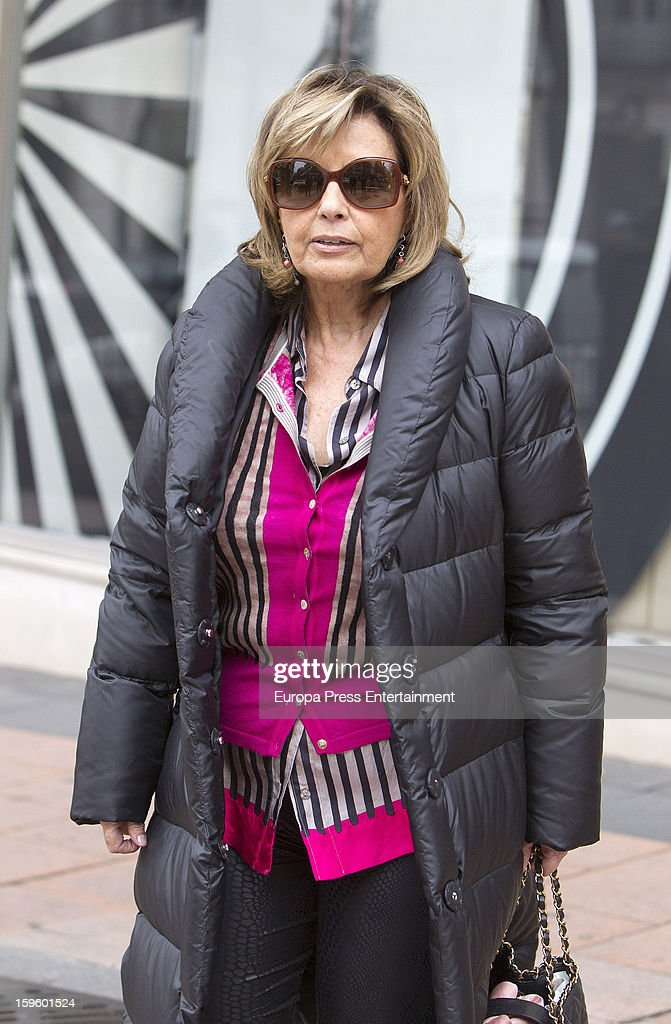 Maria Teresa Campos is shopping on January 16, 2013 in Madrid, Spain.