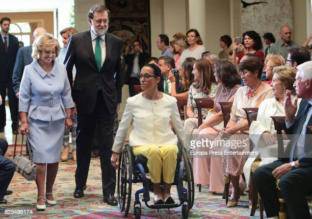 Maria Teresa Campos Mariano Rajoy Teresa Perales and Paolo Vasile attend the Golden Medal of Merit In Work during a ceremony at Moncloa Palace on...