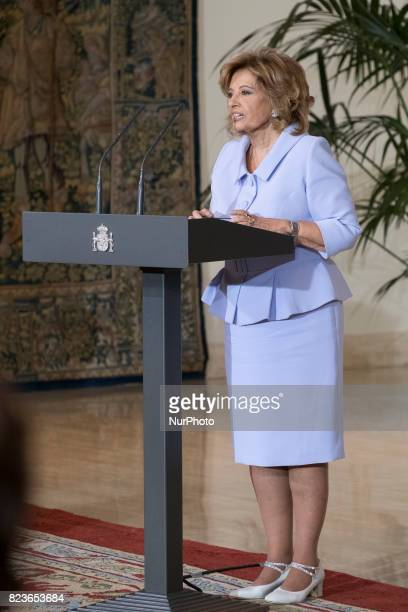Maria Teresa Campos receives the Gold Medal to Merit in Work at Moncloa palace on July 27 2017 in Madrid Spain