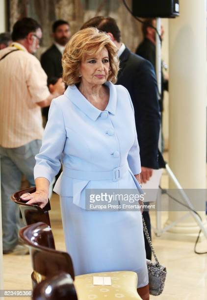 Maria Teresa Campos receives the Golden Medal of Merit In Work during a ceremony at Moncloa Palace on July 27 2017 in Madrid Spain